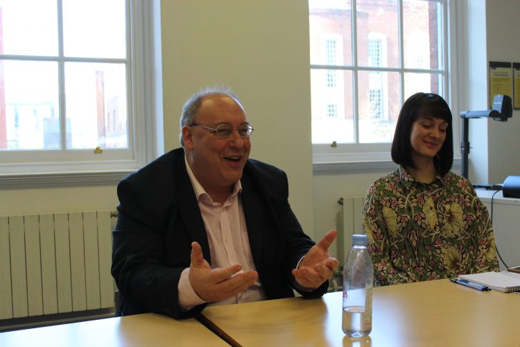 im Gespräch mit Yaron Matras und Alex Robertson von Multilingual Manchester (c)Heda Bayer