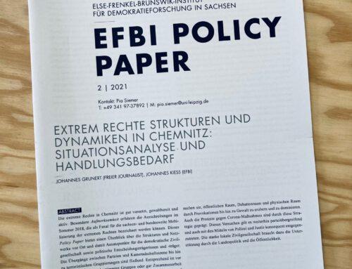 Policy Report – rechte Strukturen und Dynamiken in Chemnitz